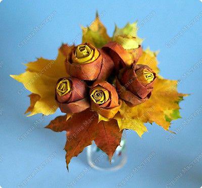 как сохранить осенние листья в букете 7