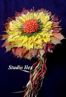 осенние букеты фото из цветов и листьев 3