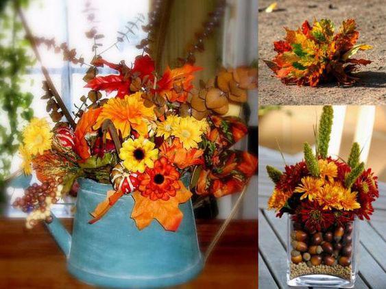 осенние букеты фото из цветов и листьев 4
