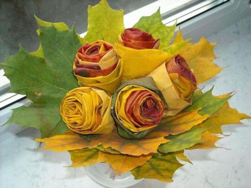 осенние букеты фото из цветов и листьев 8