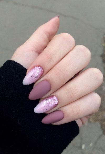 длинные ногти с осенним маникюром 10