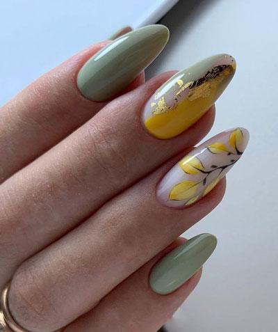 идеи осеннего маникюра на длинные ногти с фото 10