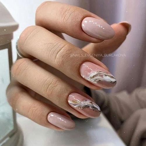 идеи осеннего маникюра на длинные ногти с фото 6