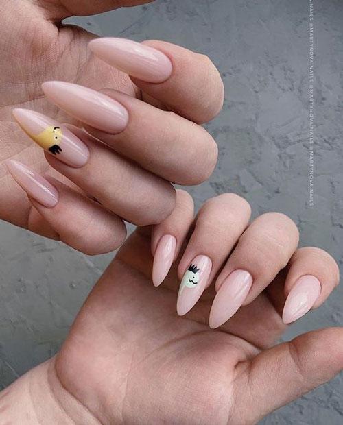идеи осеннего маникюра на длинные ногти с фото 4