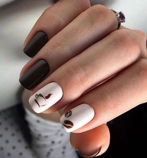 идеи осеннего маникюра на длинные ногти с фото 3