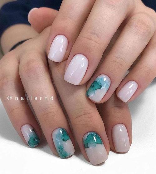 идеи осеннего маникюра на длинные ногти с фото 2