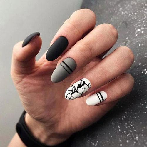 идеи осеннего маникюра на длинные ногти с фото