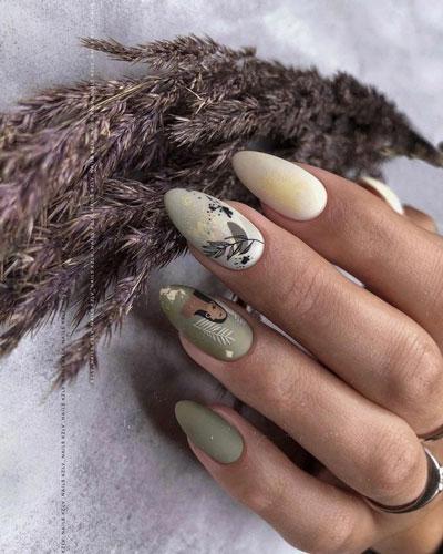 идеи осеннего маникюра на длинные ногти 10