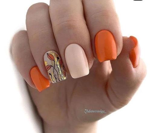 идеи осеннего маникюра на длинные ногти 7