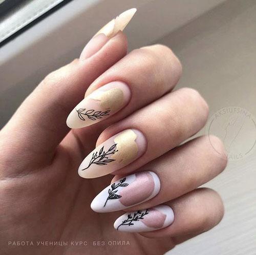 идеи осеннего маникюра на длинные ногти 6