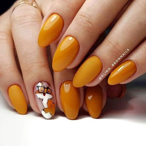 идеи осеннего маникюра на длинные ногти 3