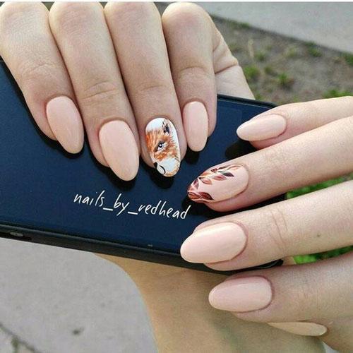 идеи осеннего маникюра на длинные ногти 2