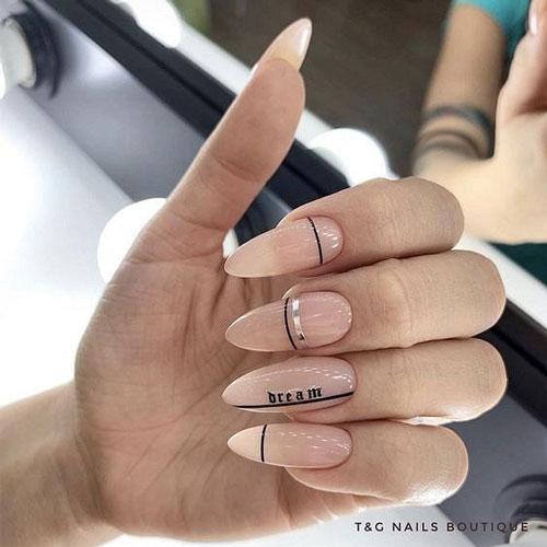 красивый осенний маникюр на длинные ногти с фото 10