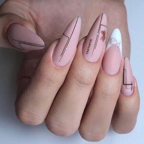 красивый осенний маникюр на длинные ногти с фото 9