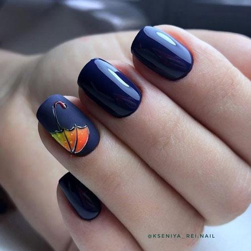 красивый осенний маникюр на длинные ногти с фото 6