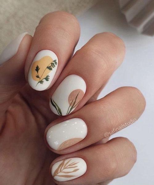 красивый осенний маникюр на длинные ногти с фото 5