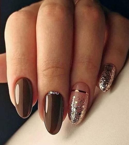 длинные ногти с осенним маникюром новые тренды 5