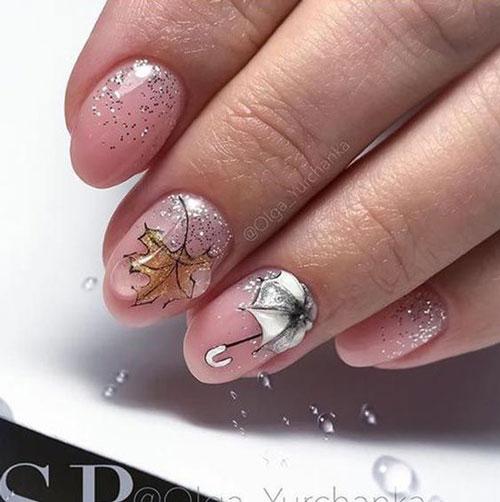 красивый осенний маникюр на длинные ногти 8