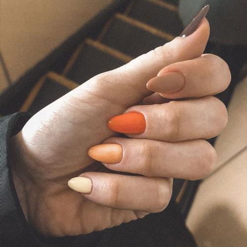 длинные ногти с осенним маникюром новые тренды 3