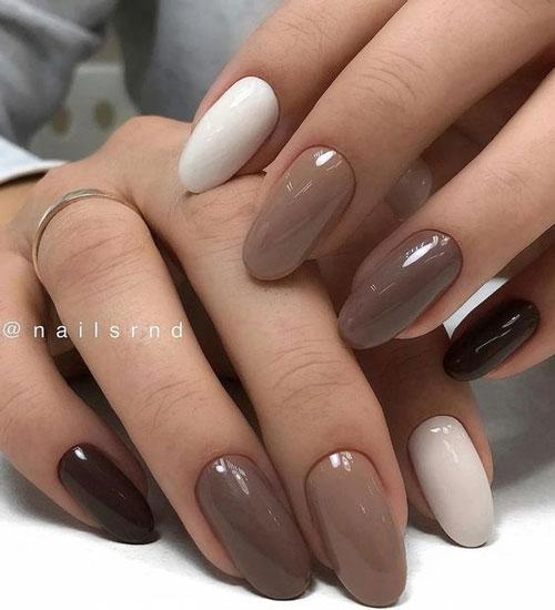 длинные ногти с осенним маникюром новые тренды