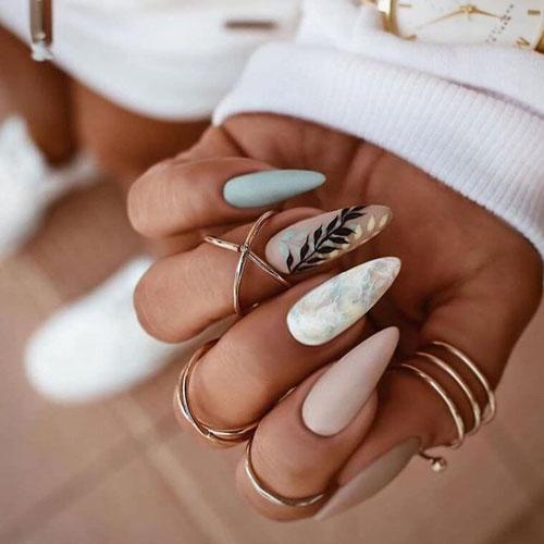 модный осенний маникюр на длинные ногти