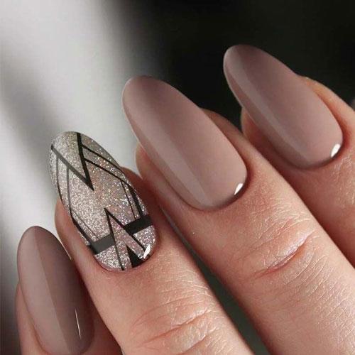 идеи осеннего маникюра на длинные ногти