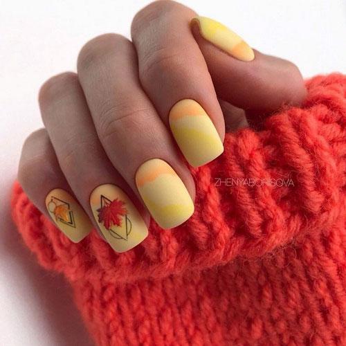 осенний маникюр 2021 на длинные ногти