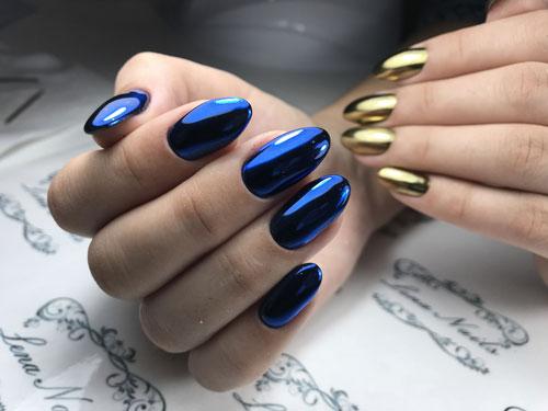 яркий осенний маникюр на длинные ногти
