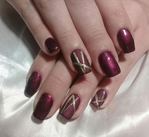 осенний маникюр на короткие ногти фото гелем