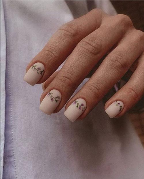 осенний маникюр на короткие ногти фото интересный