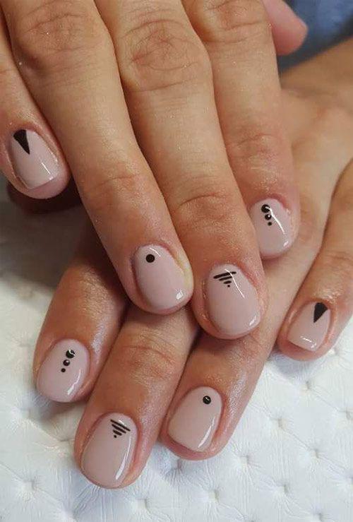 маникюр на короткие квадратные ногти осенний дизайн