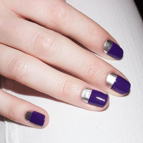 модный осенний маникюр на короткие ногти