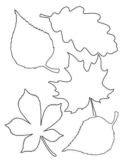 Поделки из бумаги на тему осень с шаблонами 2
