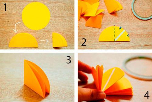 поделки из цветной бумаги на тему осень