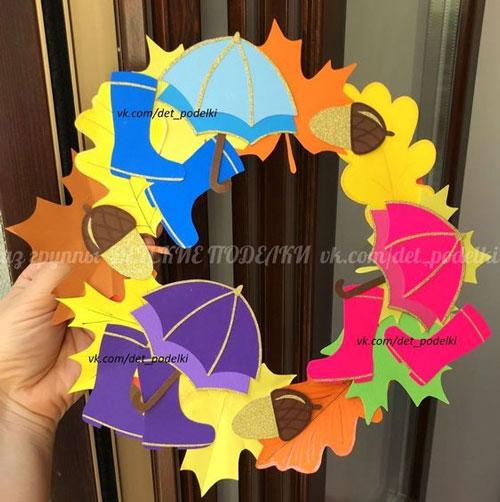 поделки из бумаги на тему осень для детского сада своими руками 7