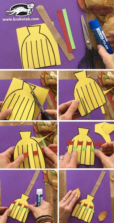 поделки из бумаги на тему осень для детского сада своими руками