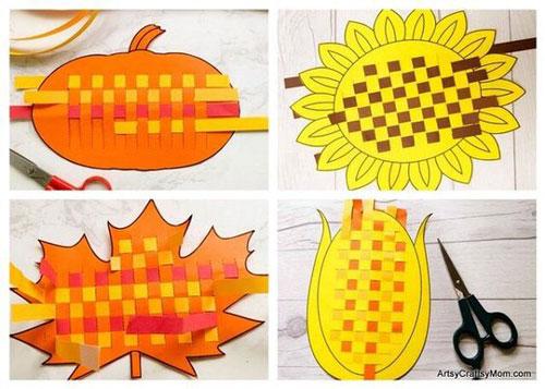 поделки из бумаги на тему осень для детского сада своими руками 6