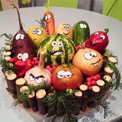 поделки на тему овощи и фрукты