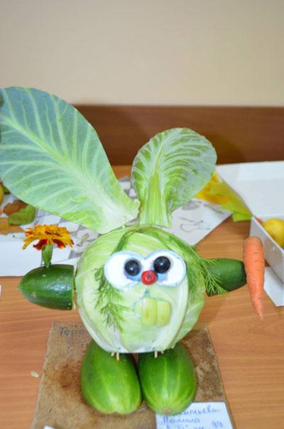 фруктово-овощные поделки в детский сад своими руками