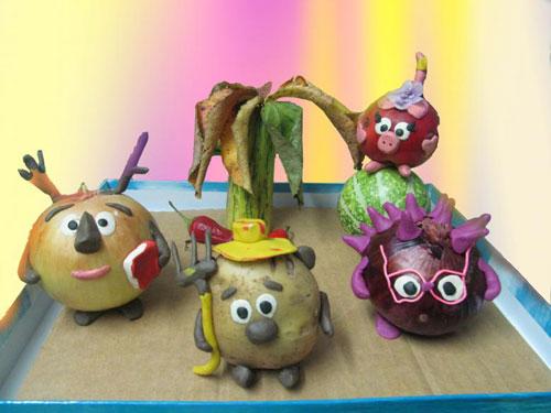 поделки овощи и фрукты для детского сада 3