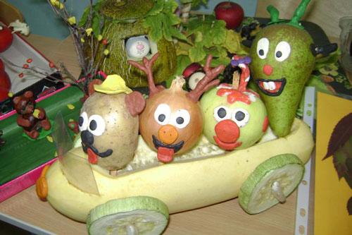 поделка в садик из овощей и фруктов