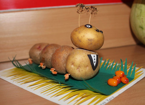 поделки из овощей и фруктов в детский сад своими руками на тему осенняя фантазия 3