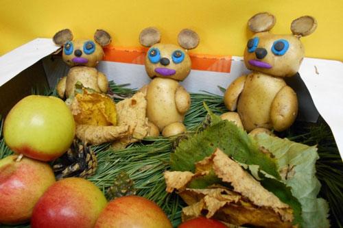 поделки из овощей и фруктов в детский сад своими руками на тему осенняя фантазия 2