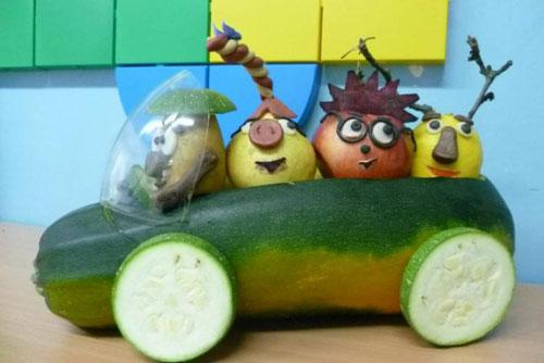 поделка в садик из овощей и фруктов 3