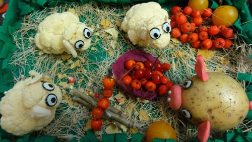 поделки из овощей и фруктов в детский сад своими руками на тему осенняя фантазия
