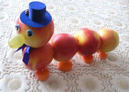 поделки в сад осень овощи фрукты