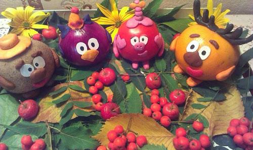 фруктово-овощные поделки в детский сад своими руками 4