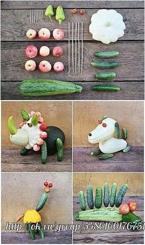 поделки из овощей и фруктов в детский сад 6