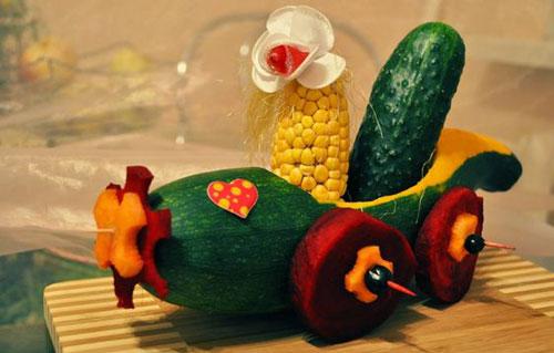 поделки из овощей и фруктов в детский сад