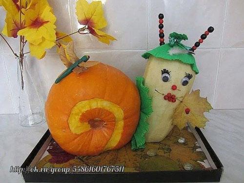 поделки из фруктов и овощей в детский сад своими руками 9